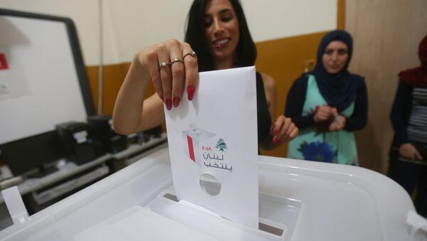 Lübnan'da seçim sandığı oy - Sputnik Türkiye