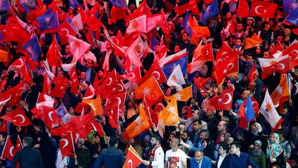AK Parti, seçmen, bayrak - Sputnik Türkiye