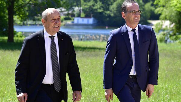 Almanya Dışişleri Bakanı Heiko Maas ve Fransa Dışişleri Bakanı Jean Yves Le Drian - Sputnik Türkiye