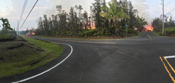 Hawaii'de 2 yeni lav çatlağı - Sputnik Türkiye