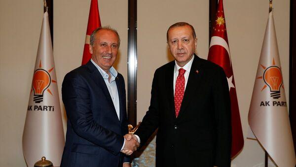 Recep Tayyip Erdoğan ve Muharrem İnce - Sputnik Türkiye