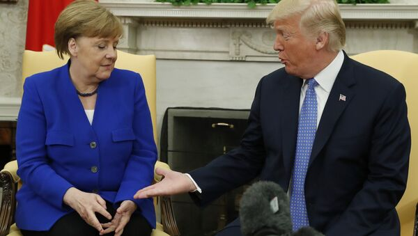 Beyaz Saray'da ikinci Merkel-Trump görüşmesi - Sputnik Türkiye