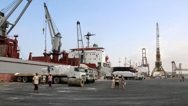 Yemen- Hudeyde limanı - Sputnik Türkiye