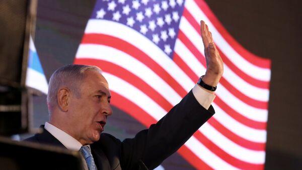 İsrail Başbakanı Benyamin Netanyahu ABD büyükelçiliği galasında konuştu - Sputnik Türkiye