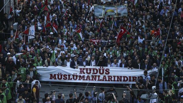 İstanbul'da Kudüs eylemi - Sputnik Türkiye