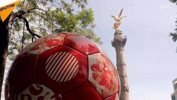 Meksika'dan FIFA 2018 dev futbol topu sergisi - Sputnik Türkiye