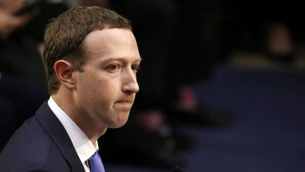 Facebook CEO Mark Zuckerberg listens while testifying before a joint Senate Judiciary and Commerce Committees hearing regarding the company's use and protection of user data, on Capitol Hill in Washington, U.S., April 10, 2018. - Sputnik Türkiye
