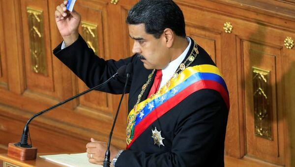 Venezüella'da yeniden devlet başkanı seçilen Nicolas Maduro - Sputnik Türkiye