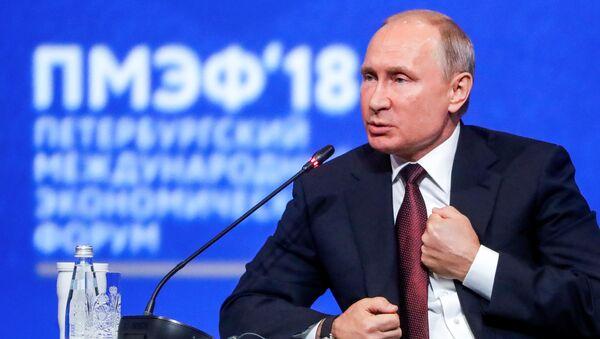 Vladimir Putin, St. Petersburg Uluslararası Ekonomik Forumu (SPIEF) - Sputnik Türkiye