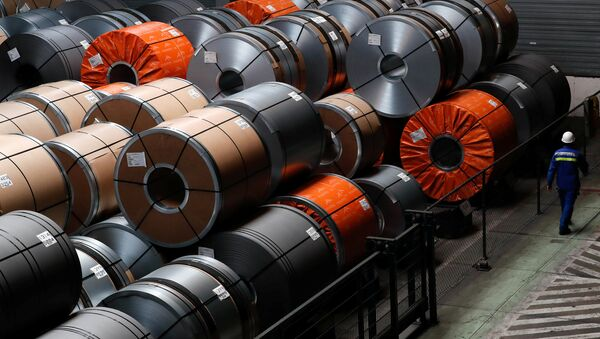 ArcelorMittal çelik fabrikası, Gent, Belçika - Sputnik Türkiye