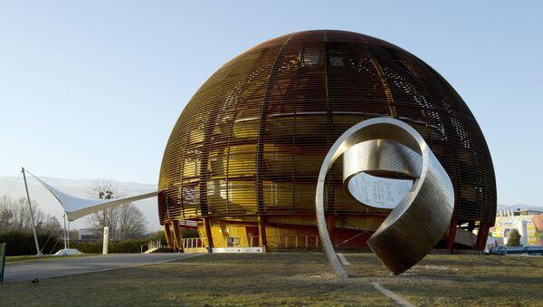 Globe of Science and Innovation at the European Organisation for Nuclear Research (CERN) in Meyrin, near Geneva - Sputnik Türkiye