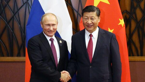 Rusya Devlet Başkanı Vladimir Putin-Çin Devlet Başkanı Şi Cinping - Sputnik Türkiye