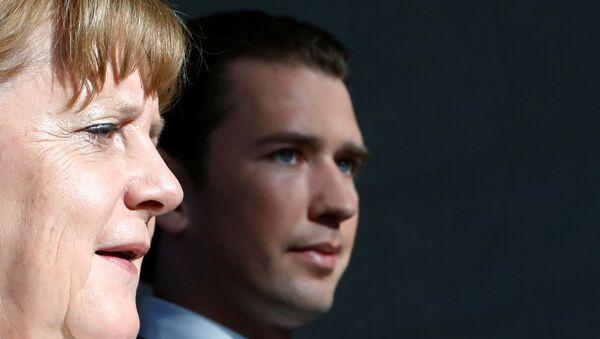 Almanya Başbakanı Angela Merkel ve Avusturya Başbakanı Sebastian Kurz - Sputnik Türkiye