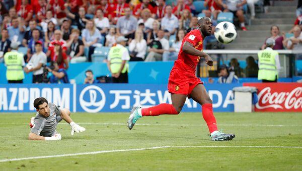 2018 FIFA Dünya Kupası'nda Belçika-Panama maçı, Romelu Lukaku 3. golü attı. - Sputnik Türkiye