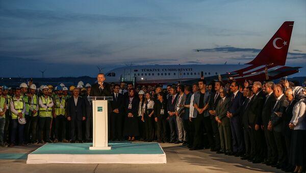 Cumhurbaşkanı Recep Tayyip Erdoğan - 3. Havalimanı - Sputnik Türkiye