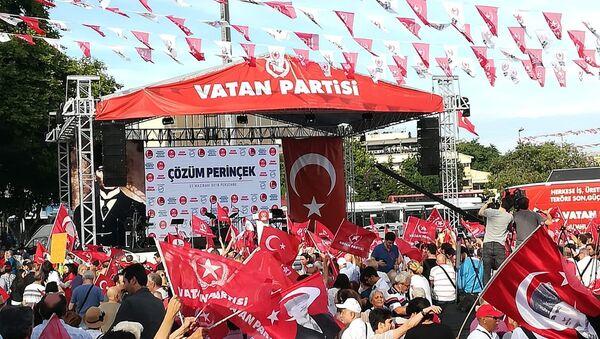 Vatan Partisi'nden Beşiktaş'ta seçim mitingi - Sputnik Türkiye