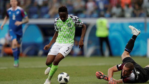 Dünya Kupası'nda Nijerya'nın İzlanda karşısındaki iki golünü Ahmed Musa attı. - Sputnik Türkiye