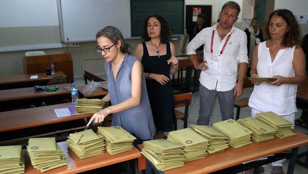 Oy sayımı, 24 Haziran, seçim, sandık - Sputnik Türkiye