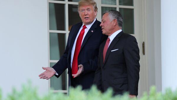 ABD Başkanı Donald Trump ve Ürdün Kralı 2. Abdullah - Sputnik Türkiye