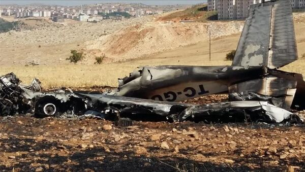 Adıyaman'da eğitim uçağı düştü, pilot yaşamını yitirdi - Sputnik Türkiye