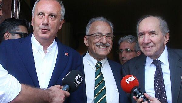 Muharrem İnce, Murat Karayalçın ve Altan Öymen - Sputnik Türkiye