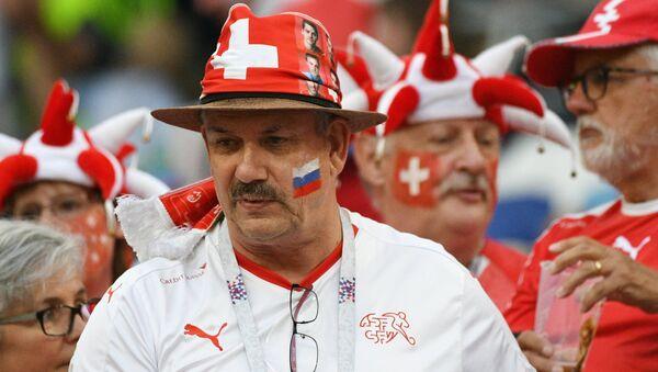 Swiss Fan Before Switzerland - Costa Rica World Cup Match. 2018 - Sputnik Türkiye