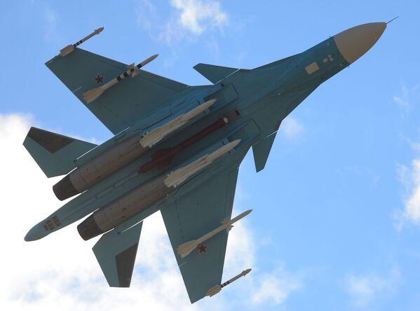 Dünyanın en etkili savaş uçağı olarak kabul edilen Rus yapımı Su-34 - Sputnik Türkiye