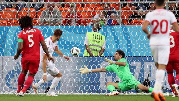 لحظة إحراز هدف التعادل للمنتخب التونسي أمام بنما في كأس العالم 2018 - Sputnik Türkiye
