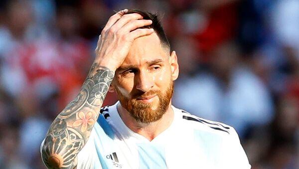 2018 Dünya Kupası, 2. tur, Fransa'nın penaltısı sonrası Messi - Sputnik Türkiye