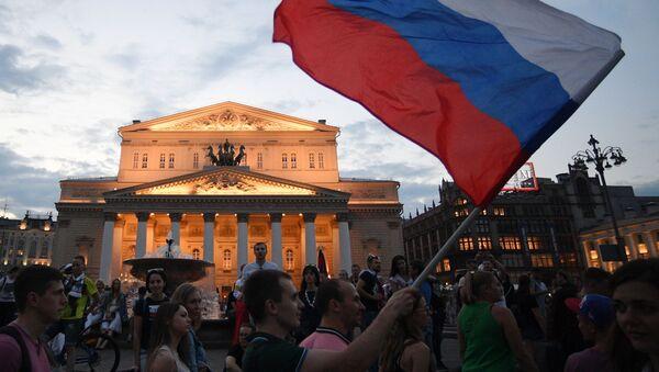 Rus millilerin başarısı nedeniyle Rusya'daki kutlamalar - Sputnik Türkiye