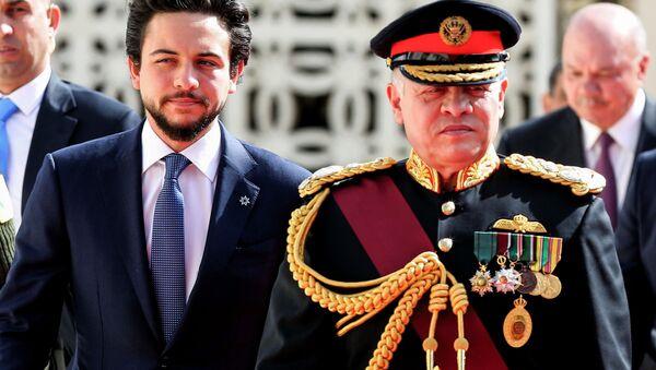 Ürdün Kralı Abdullah ile Veliaht Prensi Hüseyin - Sputnik Türkiye