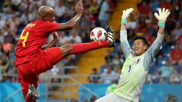 2018 Dünya Kupası, son 16 turu, Belçika-Japonya, Vincent Kompany-Eiji Kawashima - Sputnik Türkiye