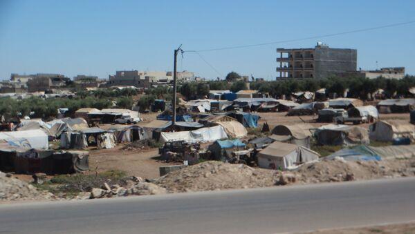 Suriye'nin Azaz şehrindeki çadır kent - Sputnik Türkiye
