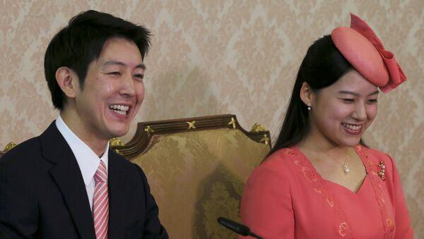 Prenses Ayako ile nişanlısı Kei Moriya - Sputnik Türkiye