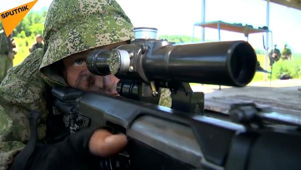 Rus Silahlı Kuvvetleri'nden keskin nişancıların katılımıyla taktiksel tatbikat - Sputnik Türkiye