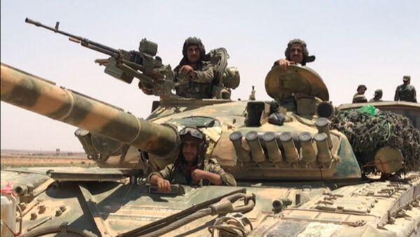 Suriye ordusu, Dera'da Ürdün sınırında - Sputnik Türkiye