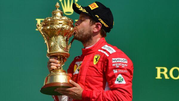 Ferrari takımının Alman pilotu Sebastian Vettel - Sputnik Türkiye