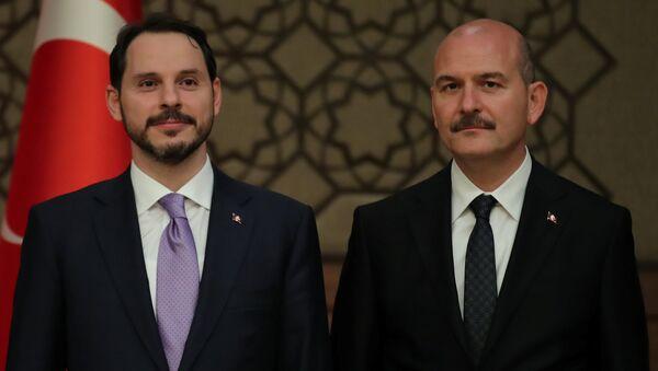 Berat Albayrak - Süleyman Soylu - Sputnik Türkiye