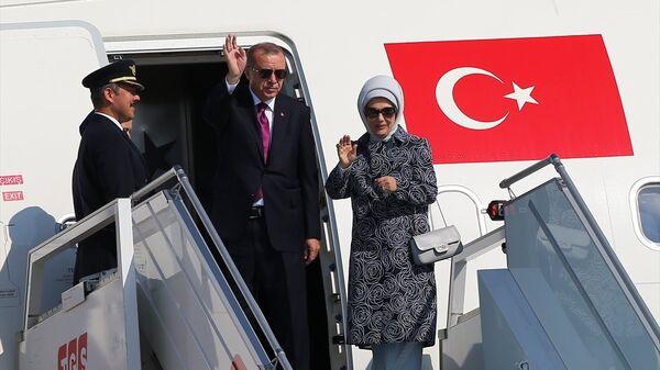 Recep Tayyip Erdoğan, uçak - Sputnik Türkiye