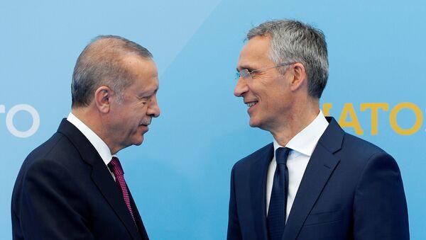 Cumhurbaşkanı Recep Tayyip Erdoğan- NATO Genel Sekreteri Jens Stoltenberg - Sputnik Türkiye