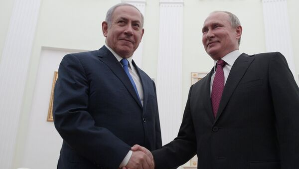 İsrail Başbakanı Benyamin Netanyahu- Rusya Devlet Başkanı Vladimir Putin  - Sputnik Türkiye