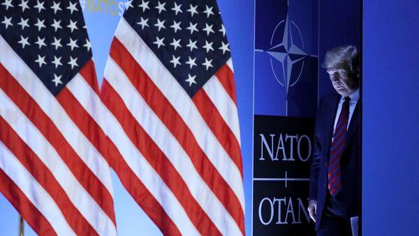 ABD Başkanı Donald Trump- NATO - Sputnik Türkiye
