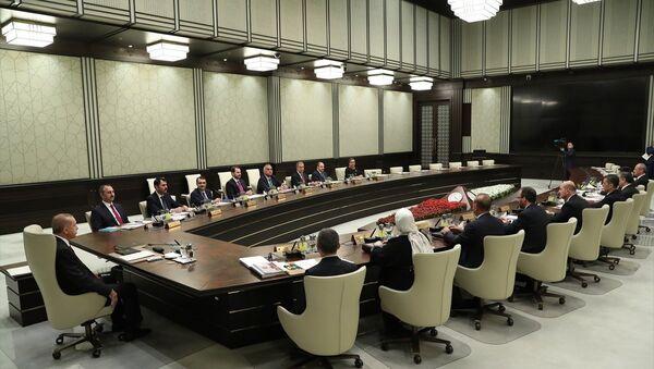 Cumhurbaşkanlığı sisteminin ilk kabine toplantısı - Sputnik Türkiye