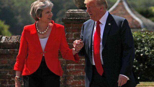 İngiltere Başbakanı Theresa May- ABD Başkanı Donald Trump - Sputnik Türkiye