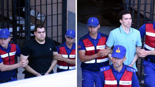 Tutuklanan Yunan askerleri - Sputnik Türkiye