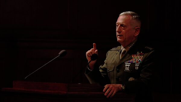 Gen. James Mattis, the head of U.S. Central Command, takes questions after delivering a lecture to the London think tank Policy Exchange in London, Tuesday, Feb. 1, 2011. - Sputnik Türkiye