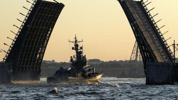 St. Petersburg'da Rusya Deniz Kuvvetleri Günü askeri geçit provası - Sputnik Türkiye
