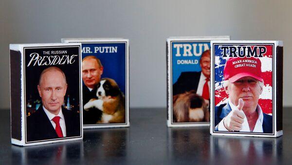 Helsinki'de Trump-Putin zirvesine özel kibrit paketleri piyasada - Sputnik Türkiye