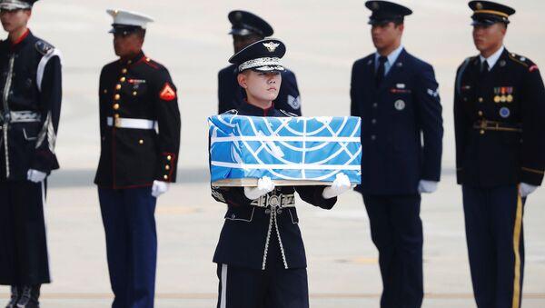 Kuzey Kore, Kore Savaşı'nda hayatını kaybeden ABD askerlerinin kalıntılarını ülkelerine gönderdi - Sputnik Türkiye