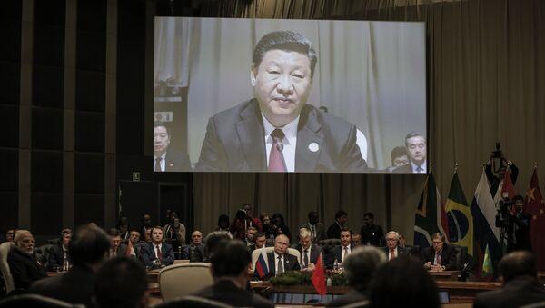 Çin Devlet Başkanı Şi Cinping, BRICS Zirvesi'nde - Sputnik Türkiye